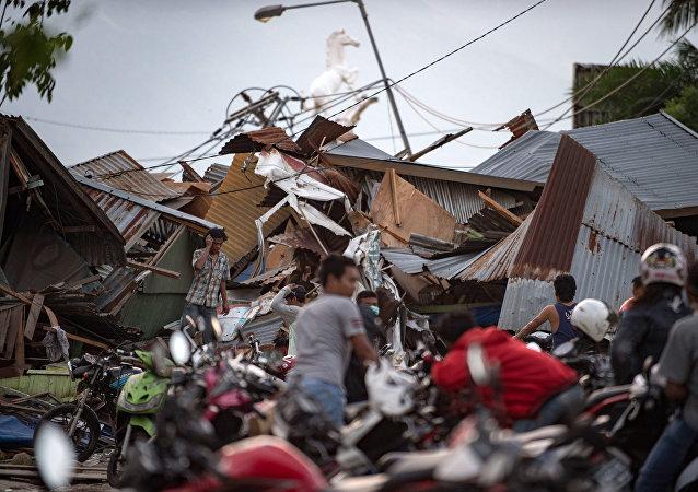 le séisme en Indonésie