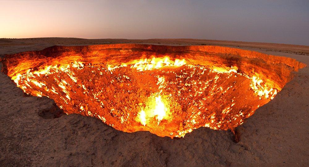 Le cratère de la «Porte de l'enfer»
