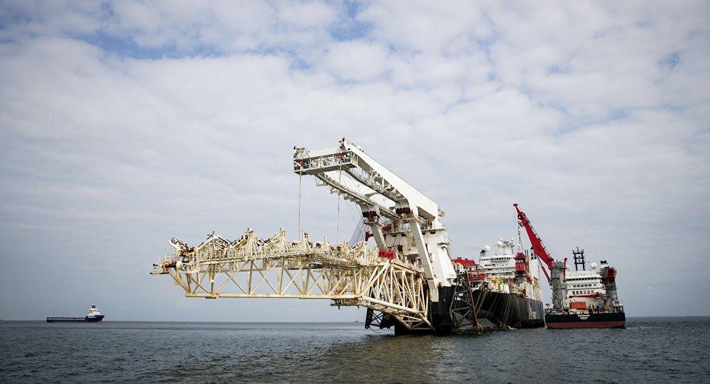 Les travaux de construction du gazoduc Nord Stream 2 en mer Baltique