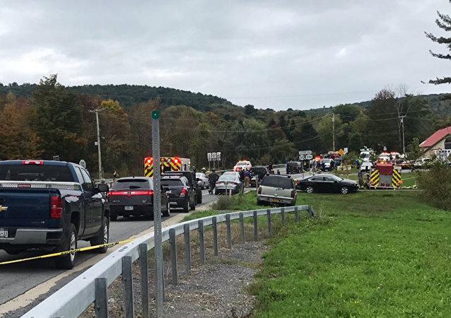 Une collision entre deux véhicules dans le nord de l'État de New York
