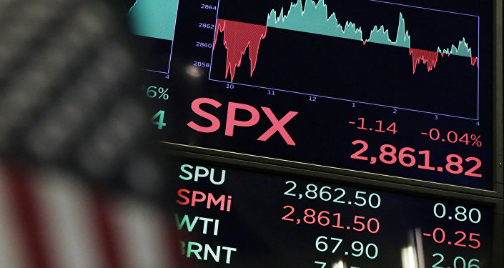 A board above the trading floor of the New York Stock Exchange shows the closing number for the S&P 500 index Wednesday, Aug. 22, 2018. The current bull run on Wall Street became the longest in history on Wednesday at 3,453 days, beating the bull market of the 1990s that ended in the dot-com collapse in 2000