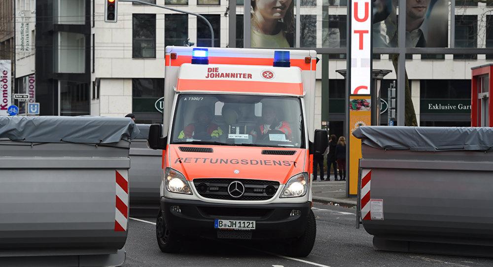 Une ambulance allemande