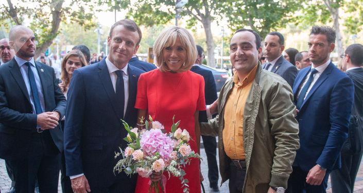 Emmanuel et Brigitte Macron en Arménie