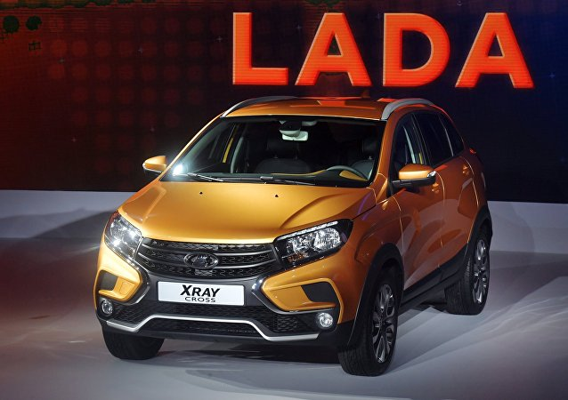 La Lada XRAY Cross au Salon de l'automobile de Moscou