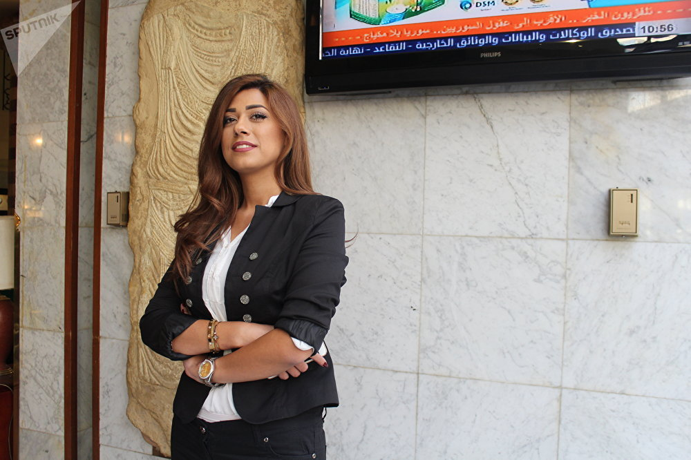 Rahaf Al-Mahdi du gouvernorat de Deraa, diplômée en gestion des affaires