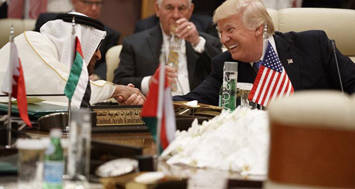 Donald Trump et Mohammed bin Zayed Al Nahyan