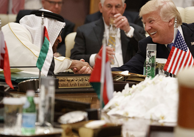 Donald Trump et Mohammed bin Zayed Al Nahyan (image d'illustration)