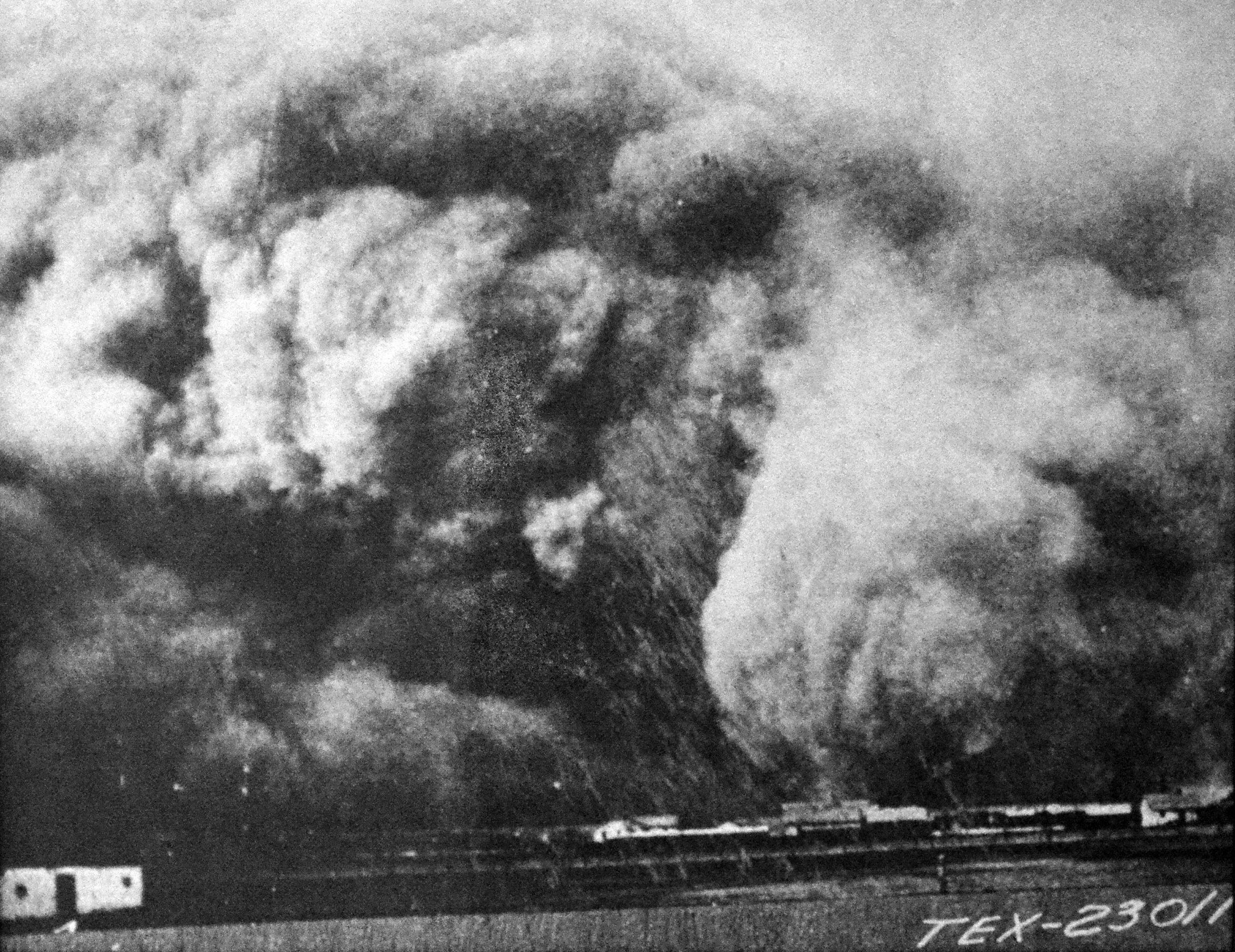 Une tempête de poussière dans le Texas en 1935
