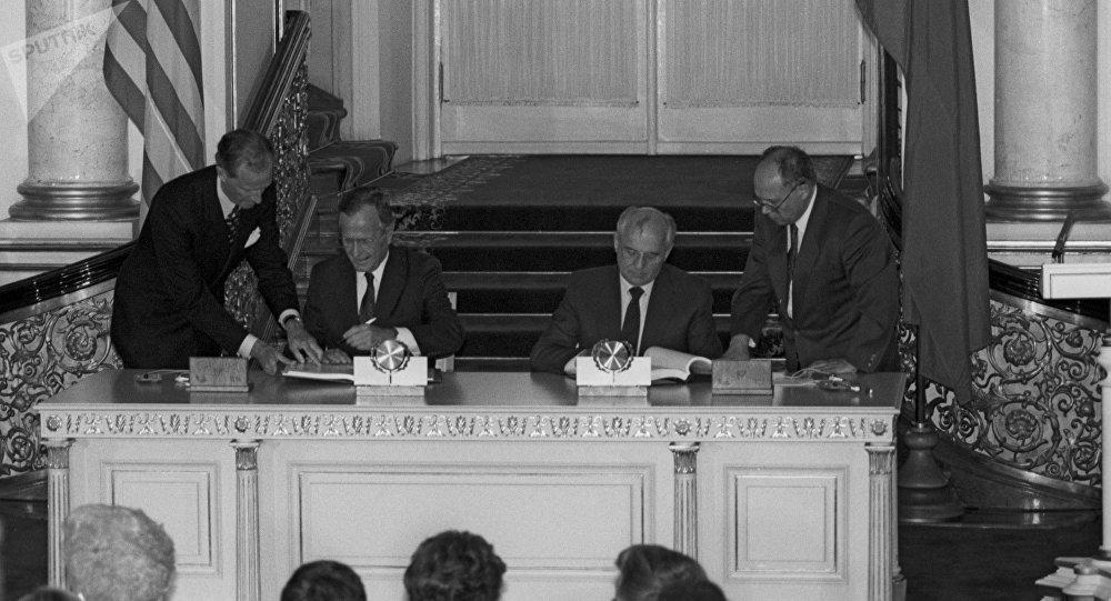 Signature du Traité de réduction des armes stratégiques