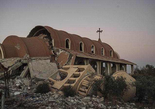 Un village chrétien dans la province d'Hassaké détruit par les terroristes, image d'illustration