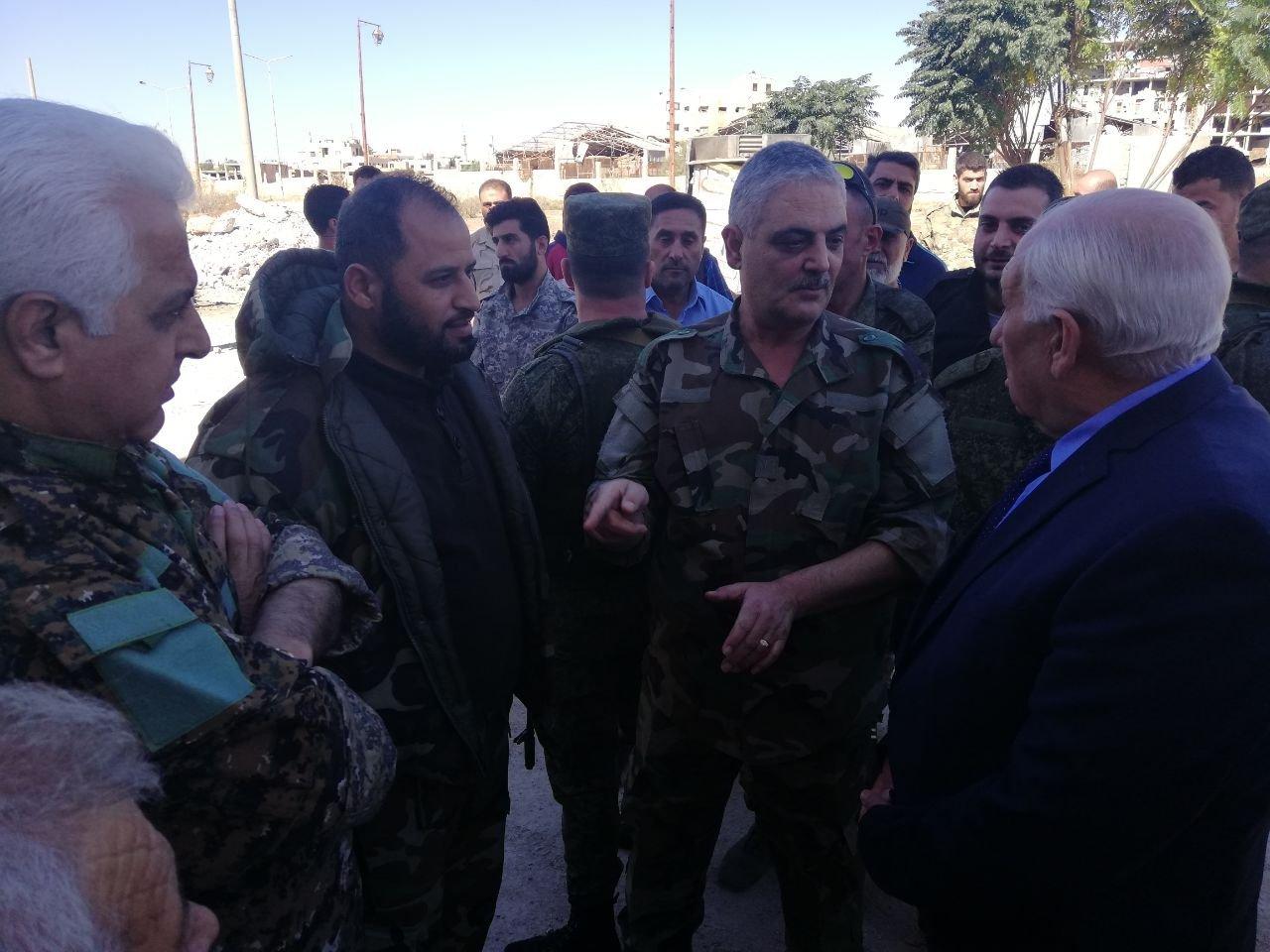 Militaires syriens et réfugiés palestiniens
