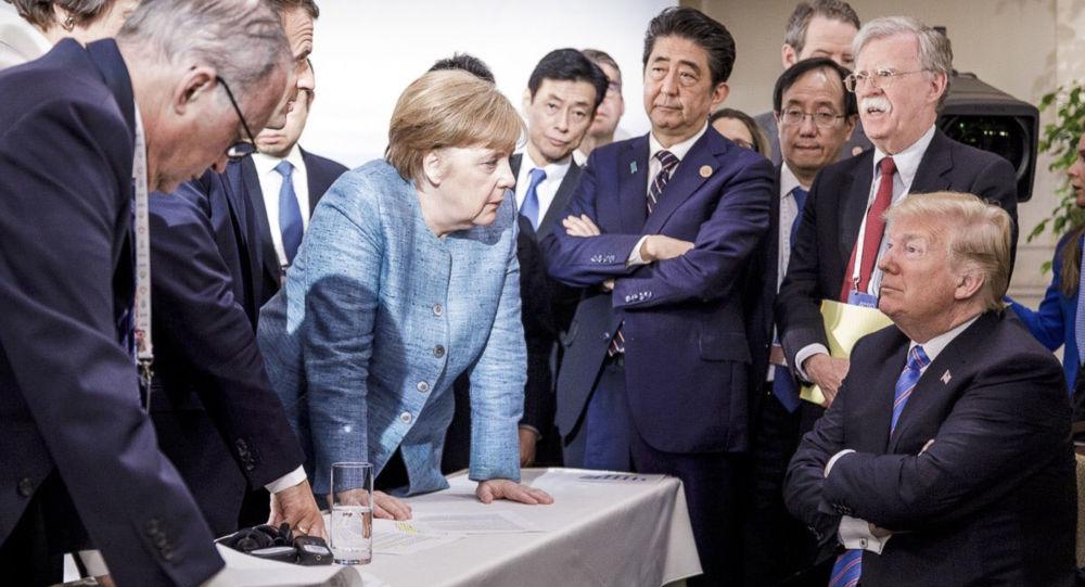 Au Brésil, on explique les tremblements d'Angela Merkel par un «regard» de Donald Trump