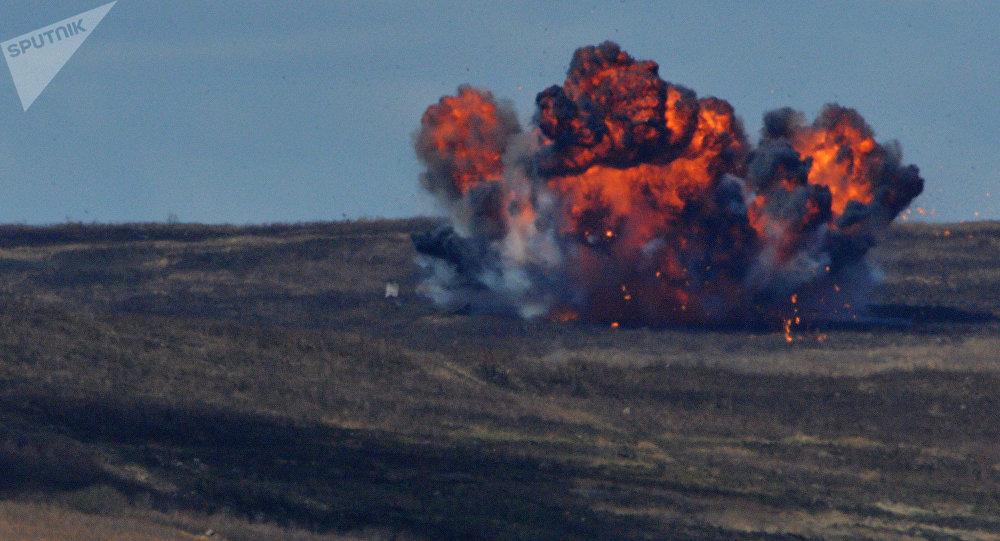 Explosion d'une bombe