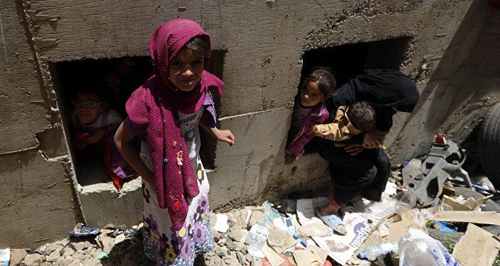 des enfants au Yémen