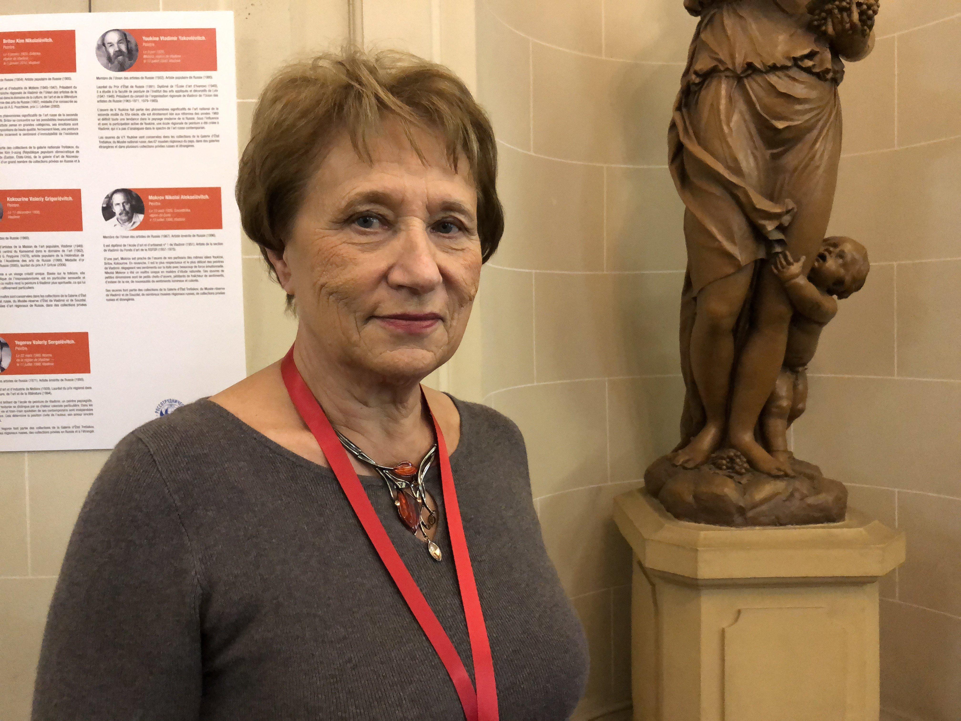 Marlène Dietrich, présidente de l'association Malgré-nous