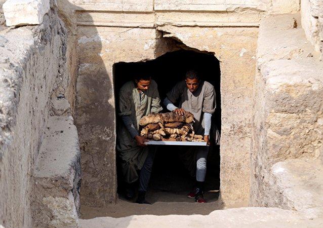 la nécropole de Saqqarah