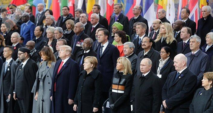 la cérémonie du centenaire de l'Armistice de 1918 à Paris