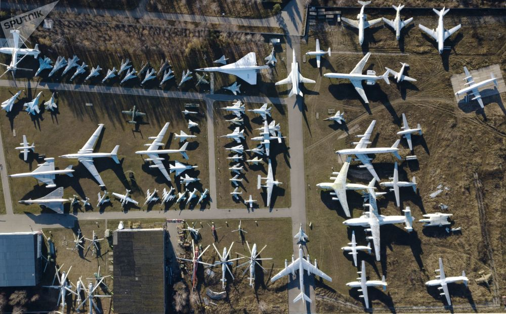 Le Musée central des forces aériennes russes dans la banlieue de Moscou
