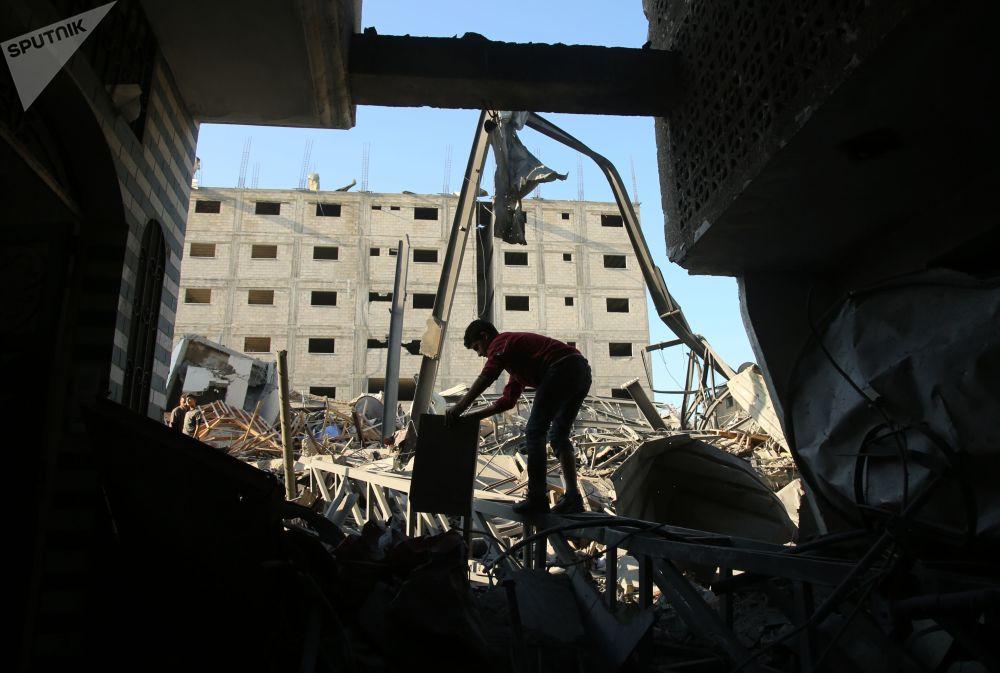 Conséquences des attaques de missiles israéliennes contre la bande de Gaza