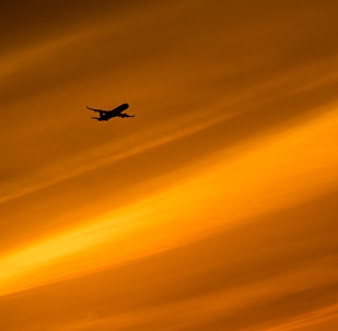 Un avion dans le ciel