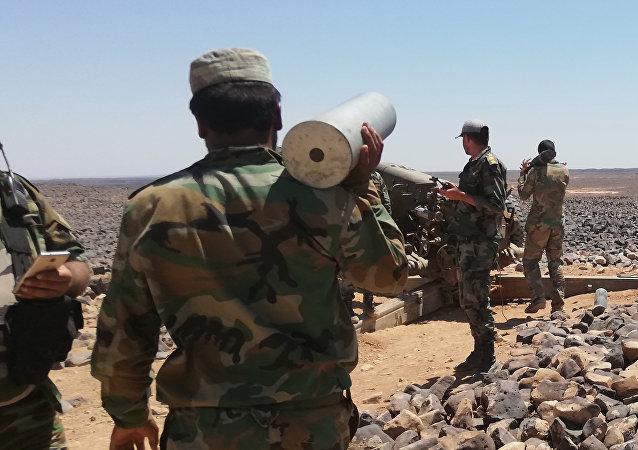 Les militaires syriens à Tulul al-Safa