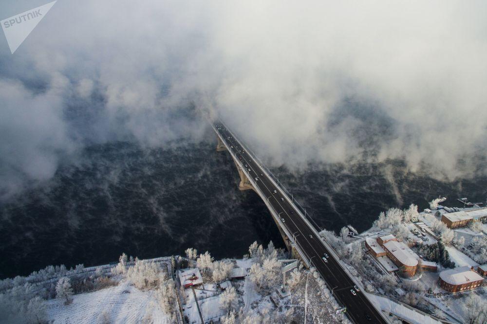 Les froids à Krasnoïarsk