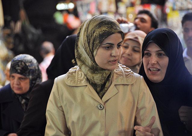 Au marché central de Damas
