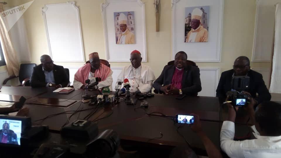 Les leaders religieux réunis mardi 20 novembre 2018 à Douala lors de la conférence de presse, Cameroun