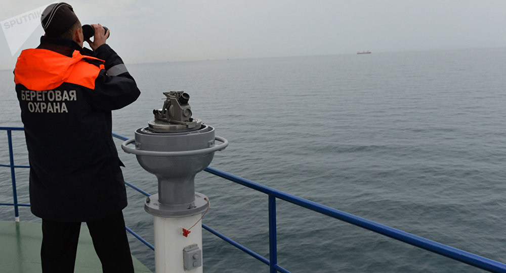 un garde-côtes à Novorossiïsk