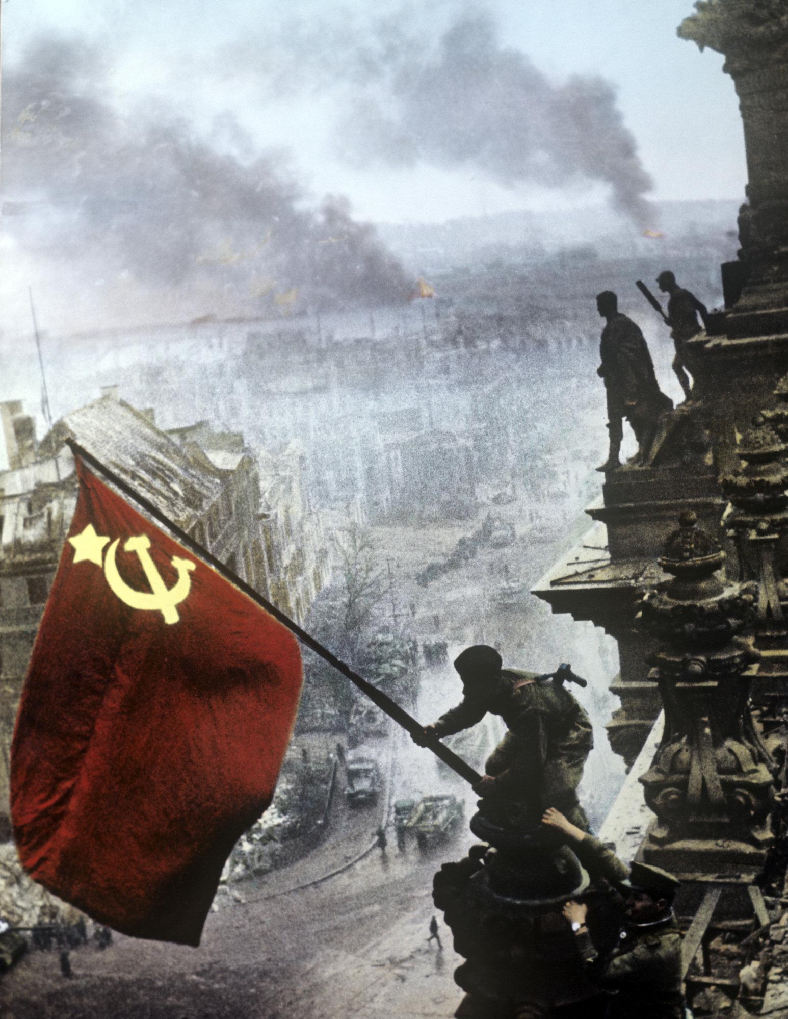 Le drapeau soviétique sur le Reichstag