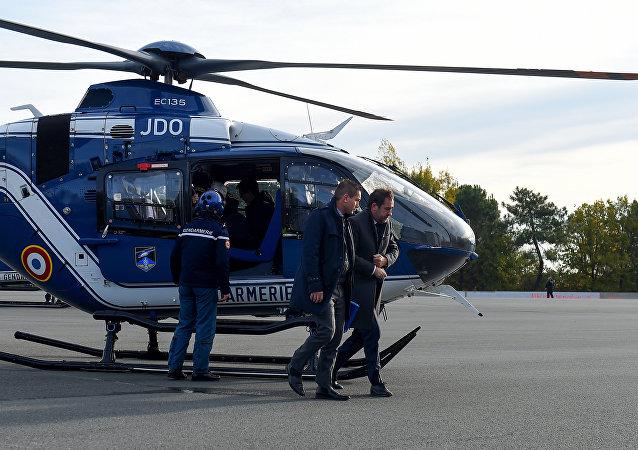 Christophe Castaner en visite en Gironne