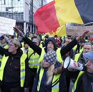 Des Gilets jaunes à Bruxelles