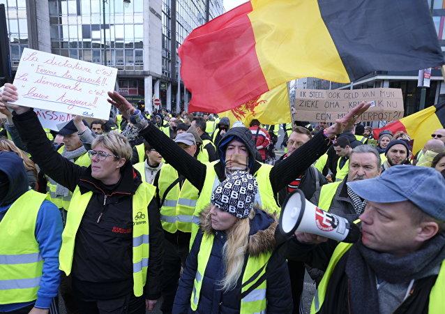 Les Gilets jaunes à Bruxelles (archives photo)