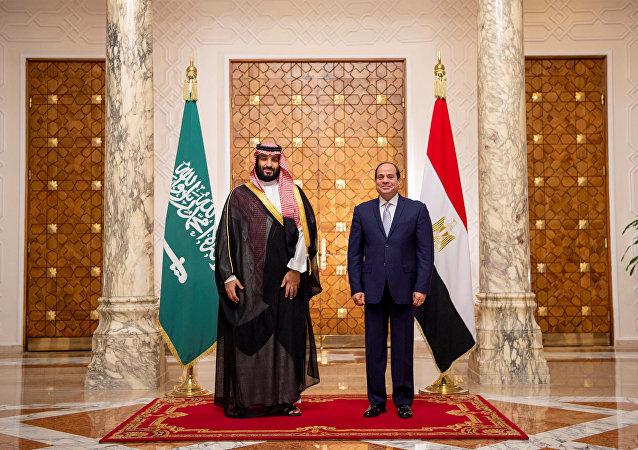 Président égyptien Abdel Fattah al-Sissi et prince héritier saoudien Mohammed ben Salmane