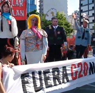 Manifestation contre le sommet du G20 à Buenos Aires