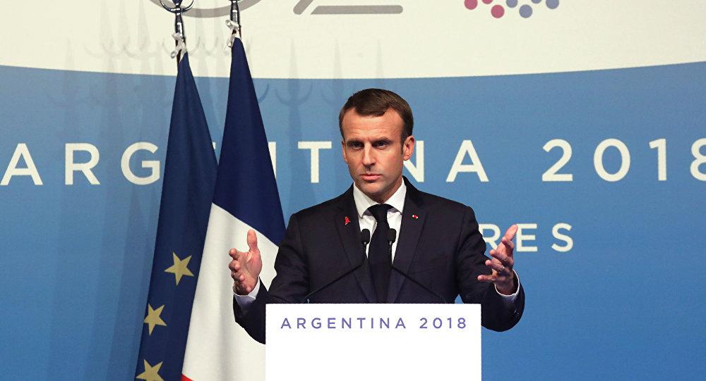 Emmanuel Macron lors du G20 en Argentine