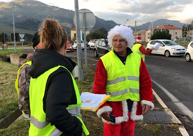 Gilets jaunes en Corse, 1 decembre 2018