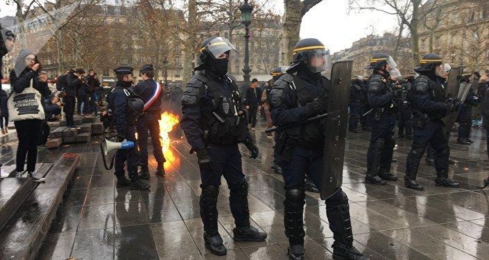 Mobilisation lycéenne à Paris contre les réformes touchant à l'enseignement
