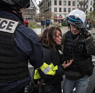 Une manifestation des Gilets jaunes à Lyon (8 décembre 2018)