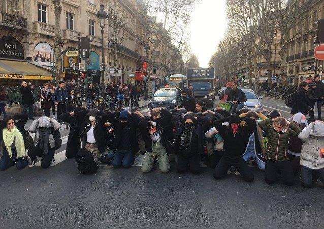 Manifestations lycéennes à Paris, place Saint-Michel, 11 décembre 2018