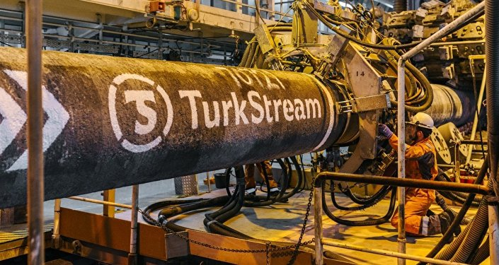 Construction du Turkish Stream