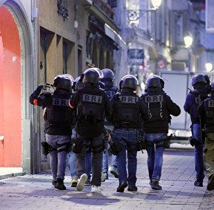 BRI sur les lieux de l'attaque de Strasbourg