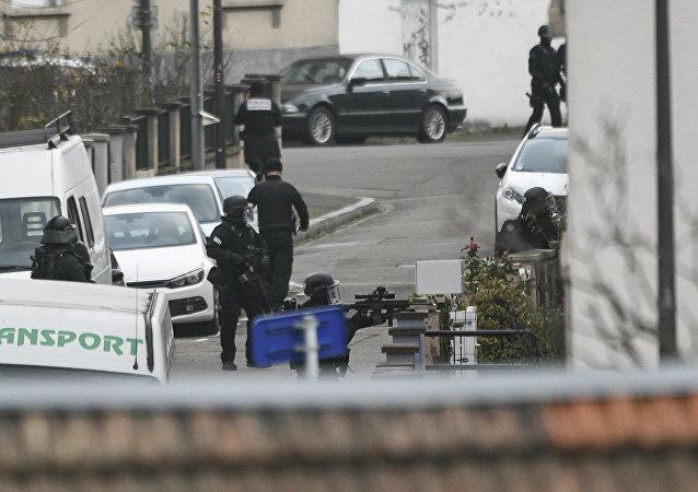 La police à Strasbourg