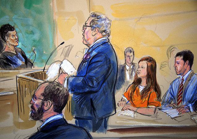 Maria Butina au tribunal