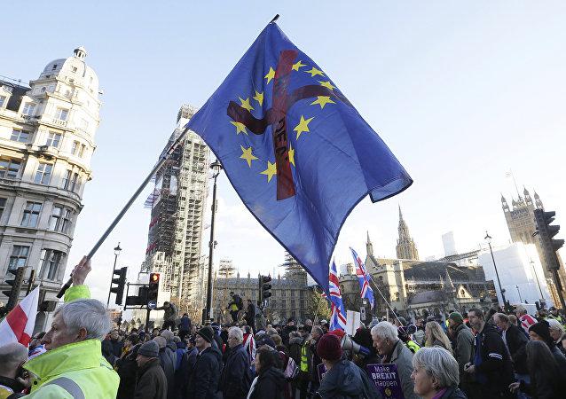 Manifestation en faveur du Brexit