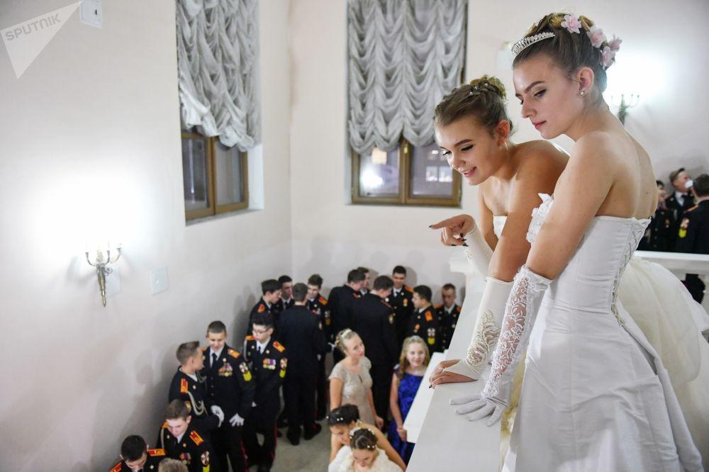 Le Bal des cadets de Rosgvardia à Moscou