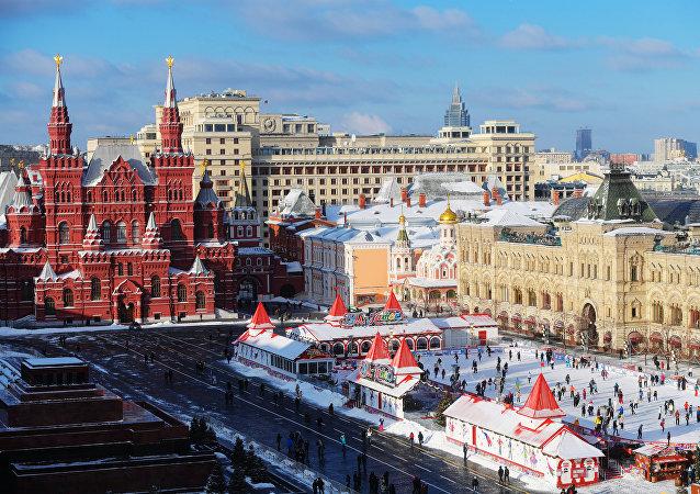 La place Rouge à Moscou