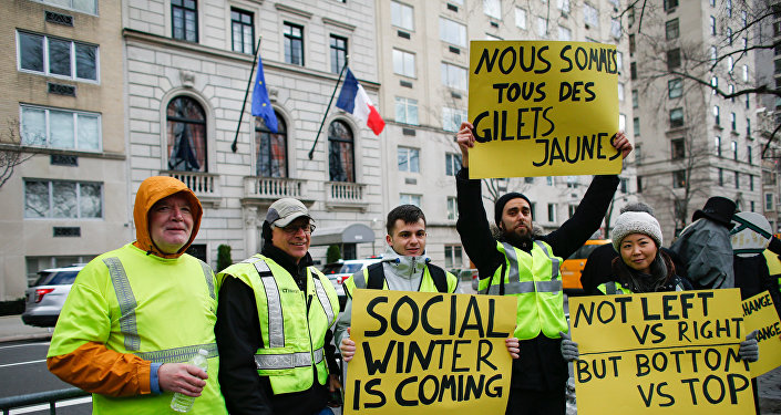 Gilets jaunes à New York