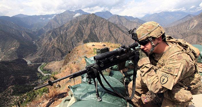 Un militaire US en Afghanistan