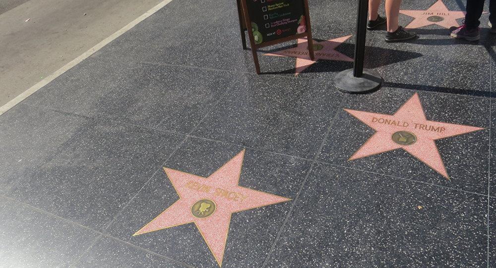 étoile de Donald Trump à Hollywood